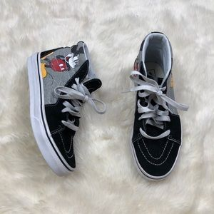 Vans Mickey Mouse Disney Sk8 High Top Suede Shoes